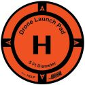 Drone Launch Pad diam 150cm (5ft) - HOODMAN