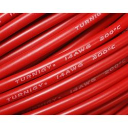 Câble silicone haute qualité 14 AWG Rouge (1 m) - Turnigy