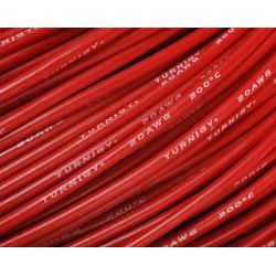 Câble silicone haute qualité 20 AWG Rouge (1 m) - Turnigy