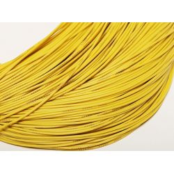 Câble silicone haute qualité 24 AWG Jaune (1 m) - Turnigy
