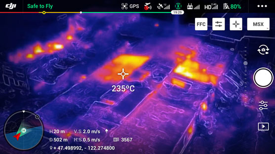 Image thermique Drone Mavic 2 Enterprise dual thermo